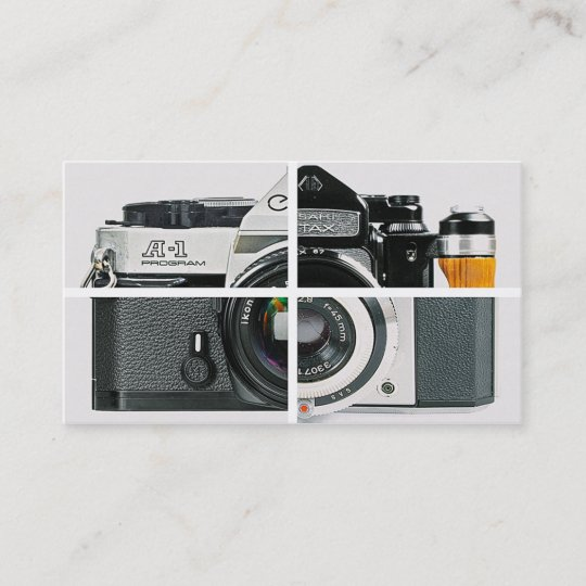 Vintage camera photography simple modern white business card vintage camera photography simple modern white business card colourmoves
