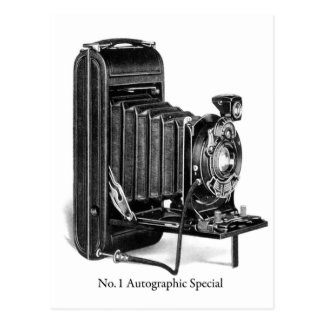 Vintage Camera Photograpy No.1 Autographic Special Postcard