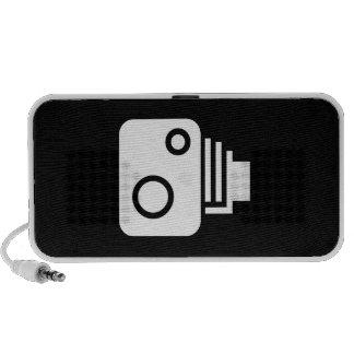 Vintage Camera Pictogram Doodle Speaker