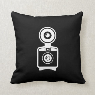 VIntage Camera Pictogram Throw Pillow
