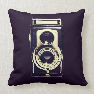 Vintage Camera Pillow