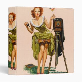 Vintage Camera Pinup girl Binders