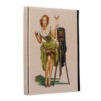 Vintage Camera Pinup girl iPad Case