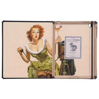 Vintage Camera Pinup girl iPad Folio Case