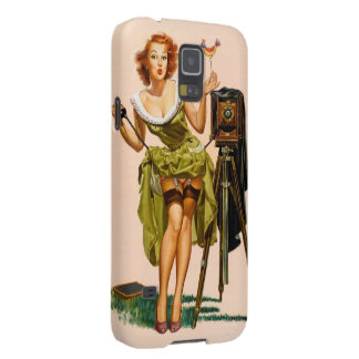 Vintage Camera Pinup girl Case For Galaxy S5
