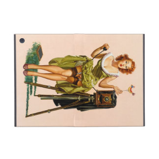 Vintage Camera Pinup girl Case For iPad Mini