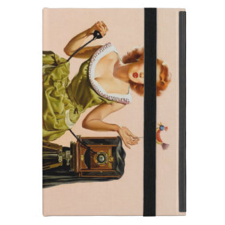 Vintage Camera Pinup girl Covers For iPad Mini