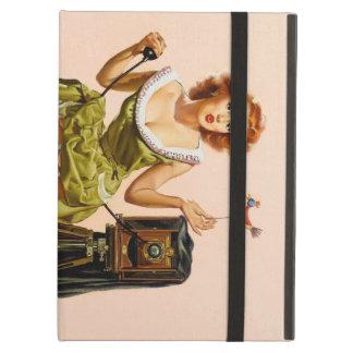 Vintage Camera Pinup girl iPad Air Case
