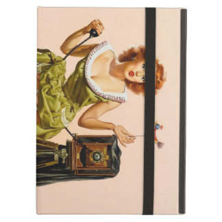 Vintage Camera Pinup girl iPad Folio Cases