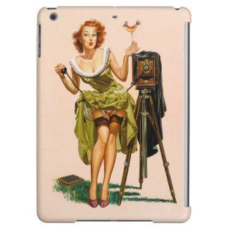 Vintage Camera Pinup girl iPad Air Cases