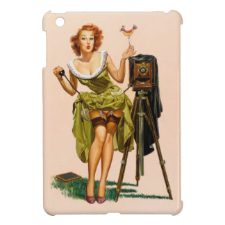Vintage Camera Pinup girl iPad Mini Covers