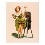 Vintage Camera Pinup girl Photo Print