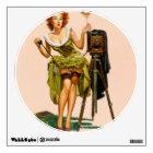 Vintage Camera Pinup girl Wall Decal