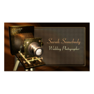 Vintage Camera Profile Card Double-Sided Standard Business Cards (Pack Of 100)
