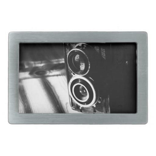 Vintage Camera Rectangular Belt Buckle