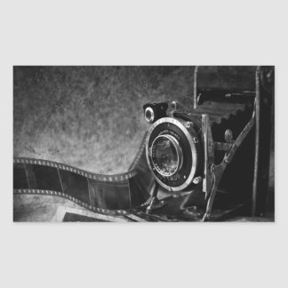 Vintage Camera Rectangular Sticker