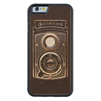Vintage camera rolleicord art deco carved maple iPhone 6 bumper case