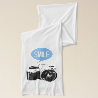 Vintage Camera, Smile Text Balloon, Photographer Scarf