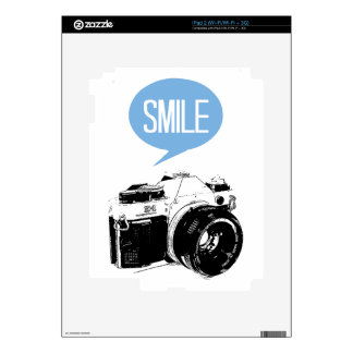 Vintage Camera, Smile Text Balloon, Photographer Skins For The iPad 2