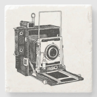 Vintage Camera Stone Coaster