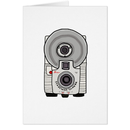 Vintage camera white and gray card