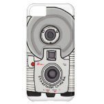 Vintage camera white and gray iPhone 5C covers