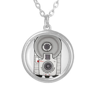 Vintage camera white and gray jewelry