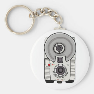 Vintage camera white and gray key chains