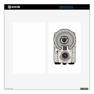 Vintage camera white and gray kindle fire skins