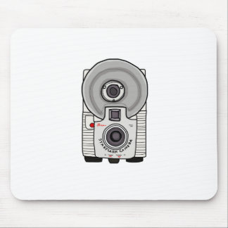 Vintage camera white and gray mouse pad