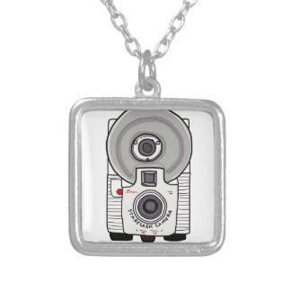 Vintage camera white and gray pendants
