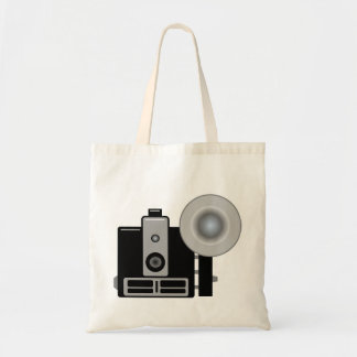 Vintage Camera With Flash Tote Bag