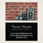 Vintage Cameras and Brick Photography Business Card