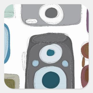 Vintage-Cameras.jpg Square Stickers