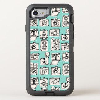 Vintage Cameras - Pale Turquoise / Andrea Lauren OtterBox Defender iPhone 7 Case