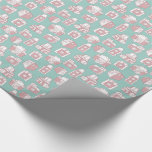 Vintage Cameras Retro Pattern (blue) Wrapping Paper at Zazzle