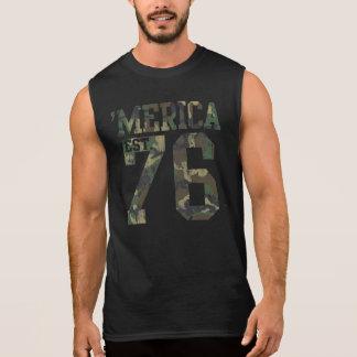 Vintage Camouflage 'Merica Est. 1776 Sleeveless Shirt