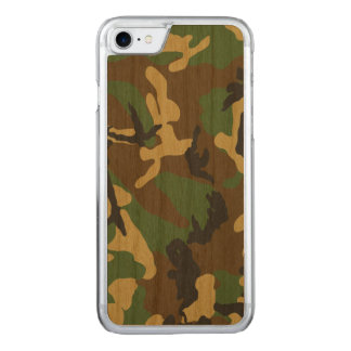 Vintage Camouflage Pattern Carved iPhone 7 Case