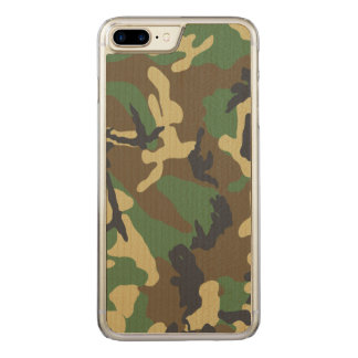 Vintage Camouflage Pattern Carved iPhone 7 Plus Case