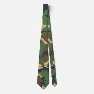 Vintage Camouflage Print Neck Tie