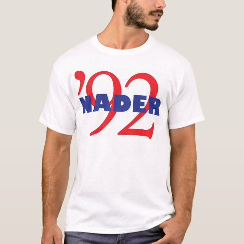 Vintage Campaign Logo Ralph Nader 1992 T_Shirt