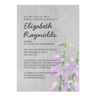 Vintage Campanula Bridal Shower Invitations Invitation