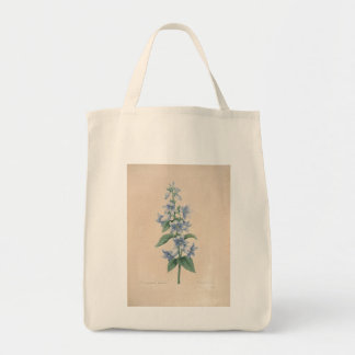Vintage Campanula by Redoute - Grocery Bags