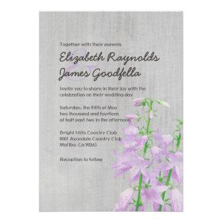 Vintage Campanula Wedding Invitations Card