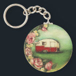 "Vintage Camper Keychain<br><div class=""desc"">Show the world that you are a GLAMPER with this item based on one of my vintage camper paintings.</div>"