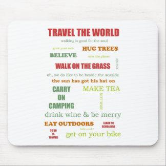 Vintage Camper Manifesto Mouse Pad