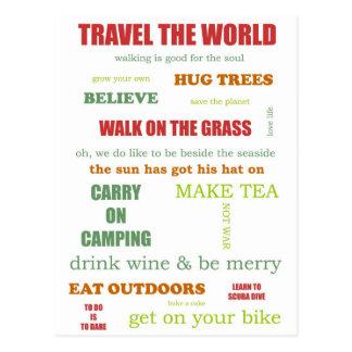 Vintage Camper Manifesto Postcard