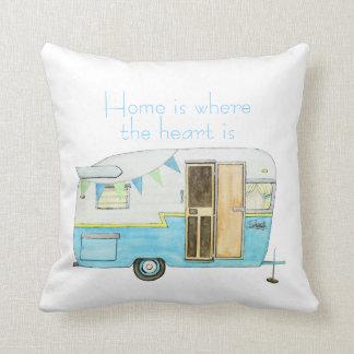 Vintage Camper Pillow