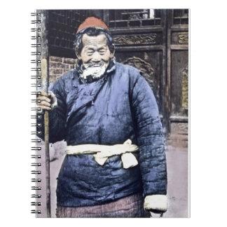 Vintage campesino japonés del pastor libro de apuntes