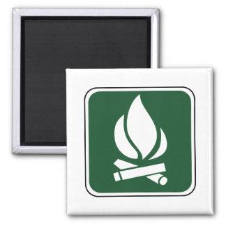 Vintage Campfire Sign Magnet